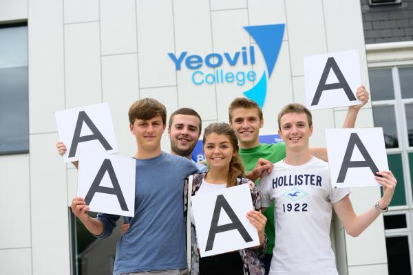 PICTURED, from left, are Matt Hayward, Jack Abbott, Mollie Langdon, Will Joynes and Sam Sargent with their results.