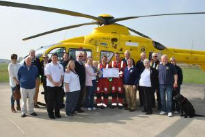Lions clubs raise vital cash for Dorset and Somerset Air Ambulance