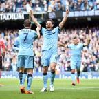 Yeovil Express: Frank Lampard signed off in perfect fashion at Manchester City