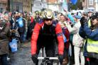 Sir Bradley Wiggins did not finish the first stage of the Tour de Yorkshire