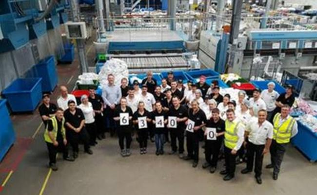 Yeovil laundry company cleans up with record breaking year