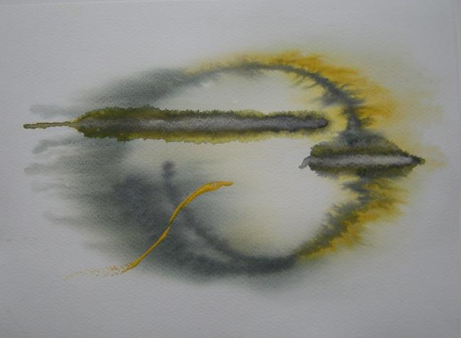 ENIGMATIC WATERCOLOURS: A piece by Annie Lanigan , one of artists whose work will be on show at the Ilminster Arts Centre