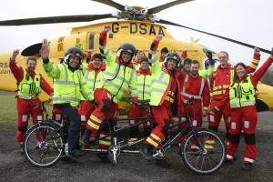 FUNDRAISING: The Coastbusters team from Devon and Somerset Air Ambulance Service