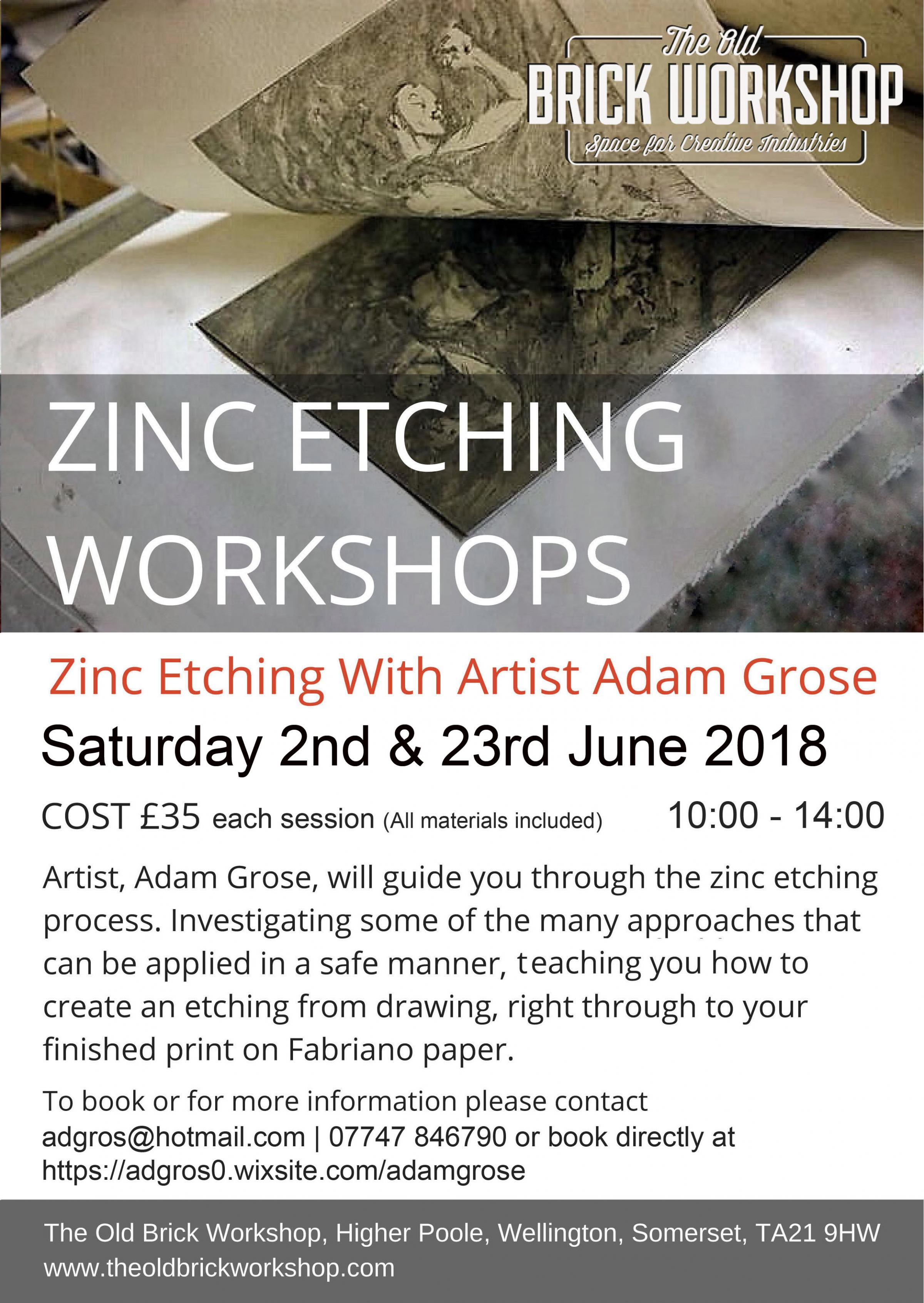 ZInc Etching Workshops