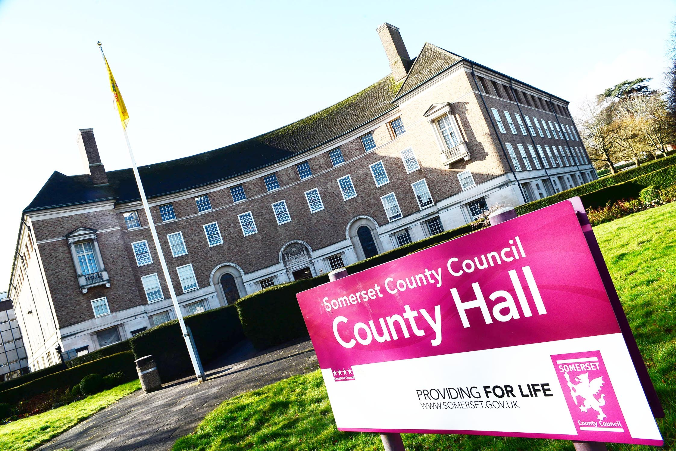 HEADQUARTERS: County Hall in Taunton