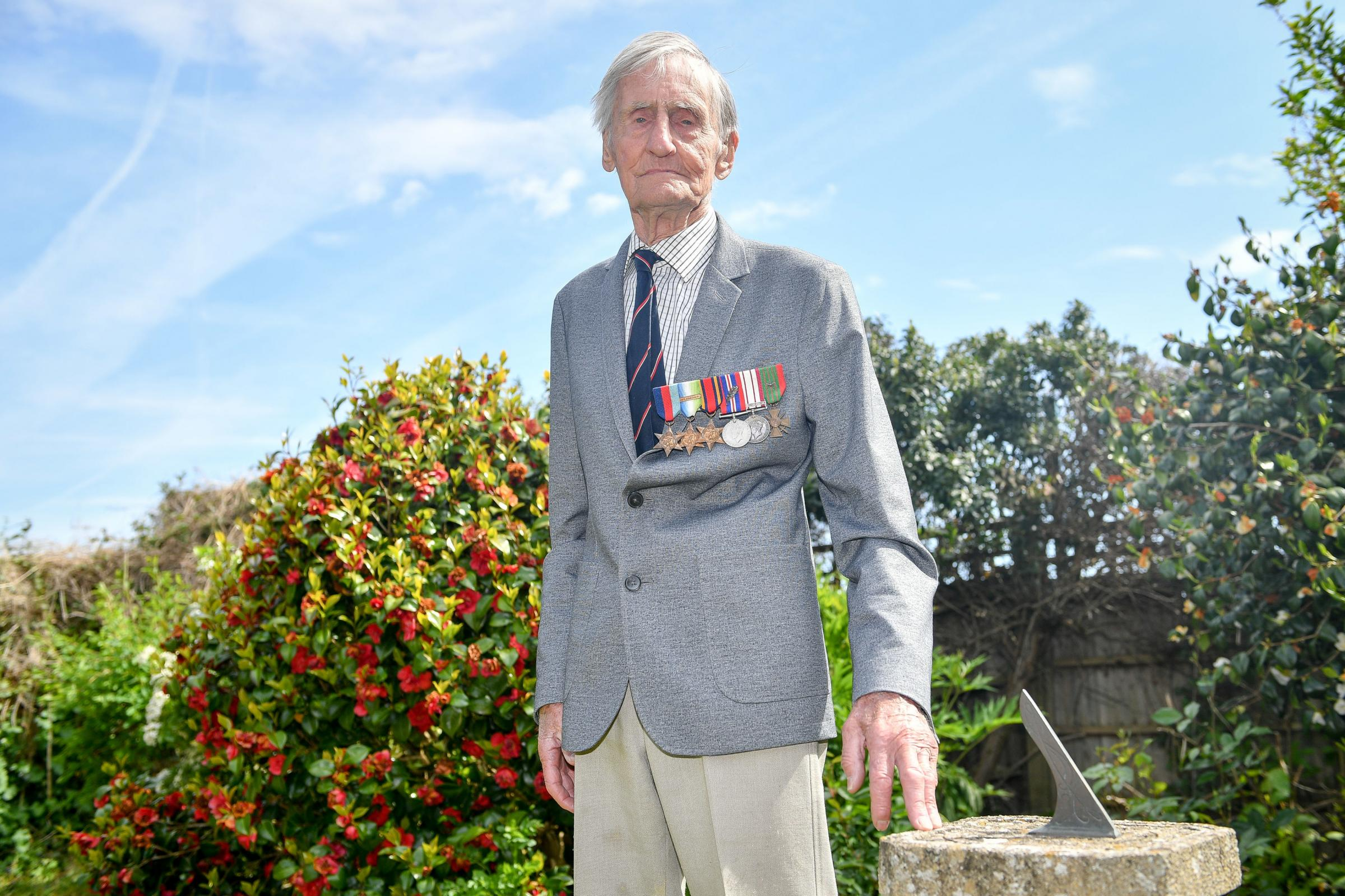 HONOUR: D-Day veteran Jim Booth, 96, who was attacked at his home in Taunton, Somerset. Picture: Ben Birchall/PA Wire.