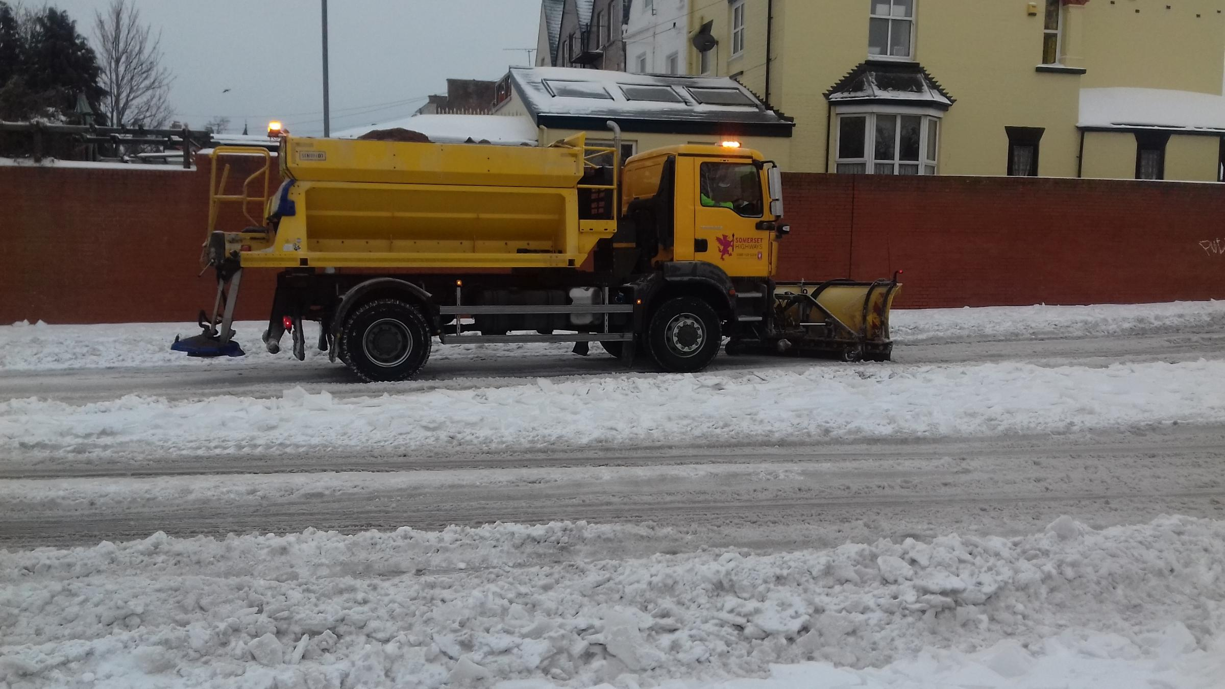 GRITTERS: One of the vehicles during the snow in March 2018