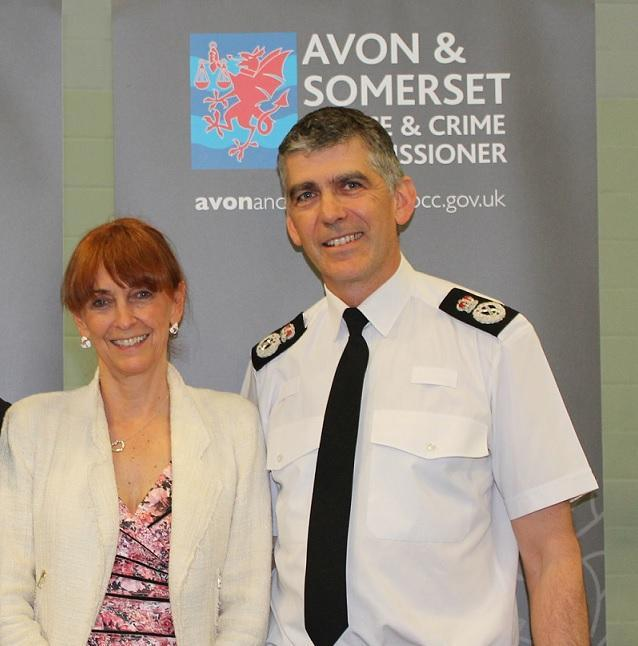 Avon and Somerset Police and Crime Commissioner (PCC) Sue Mountstevens and Chief Constable Andy Marsh
