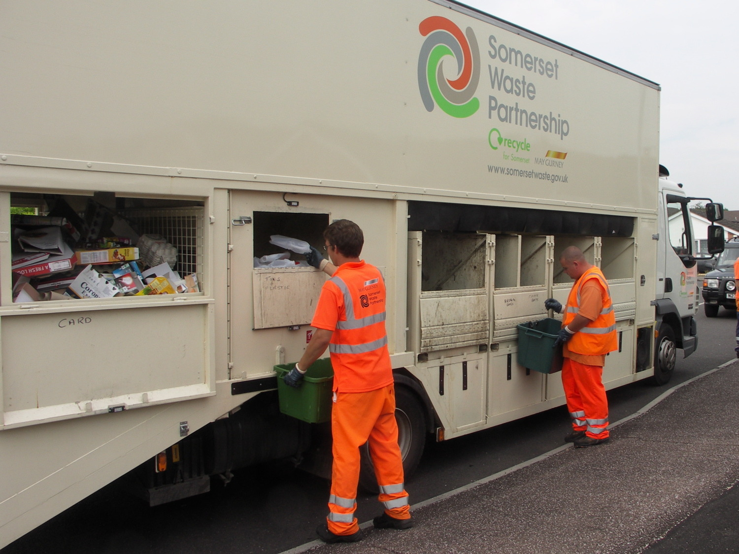 Recycling Being Collected. CREDIT: Somerset Waste Partnership. Free for use for all BBC wire partners