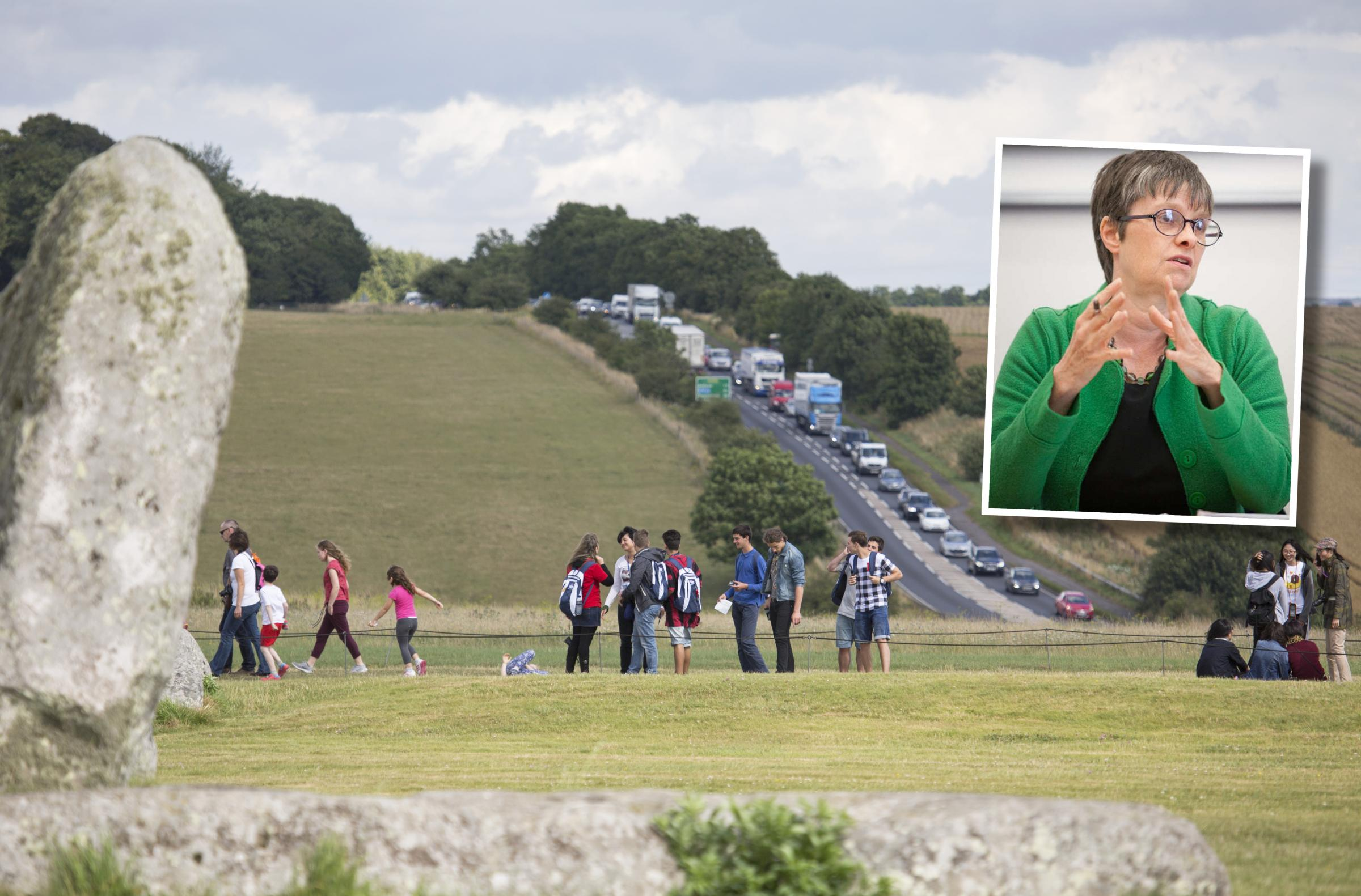 OPPOSITION: Molly Scott Cato, inset, has hit out at the plans. MAIN PICTURE: Highways England
