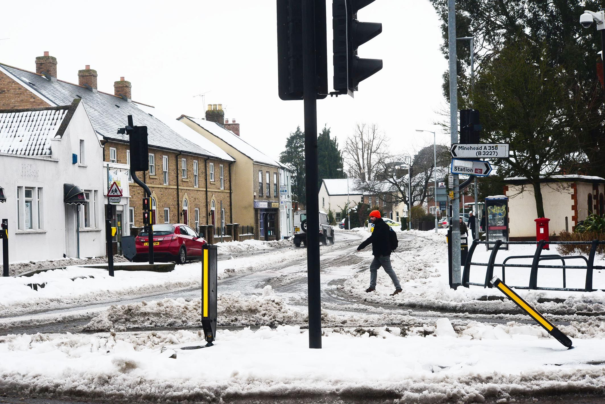 LAST YEAR: Snow in Staplegrove Road, Taunton, in March 2018