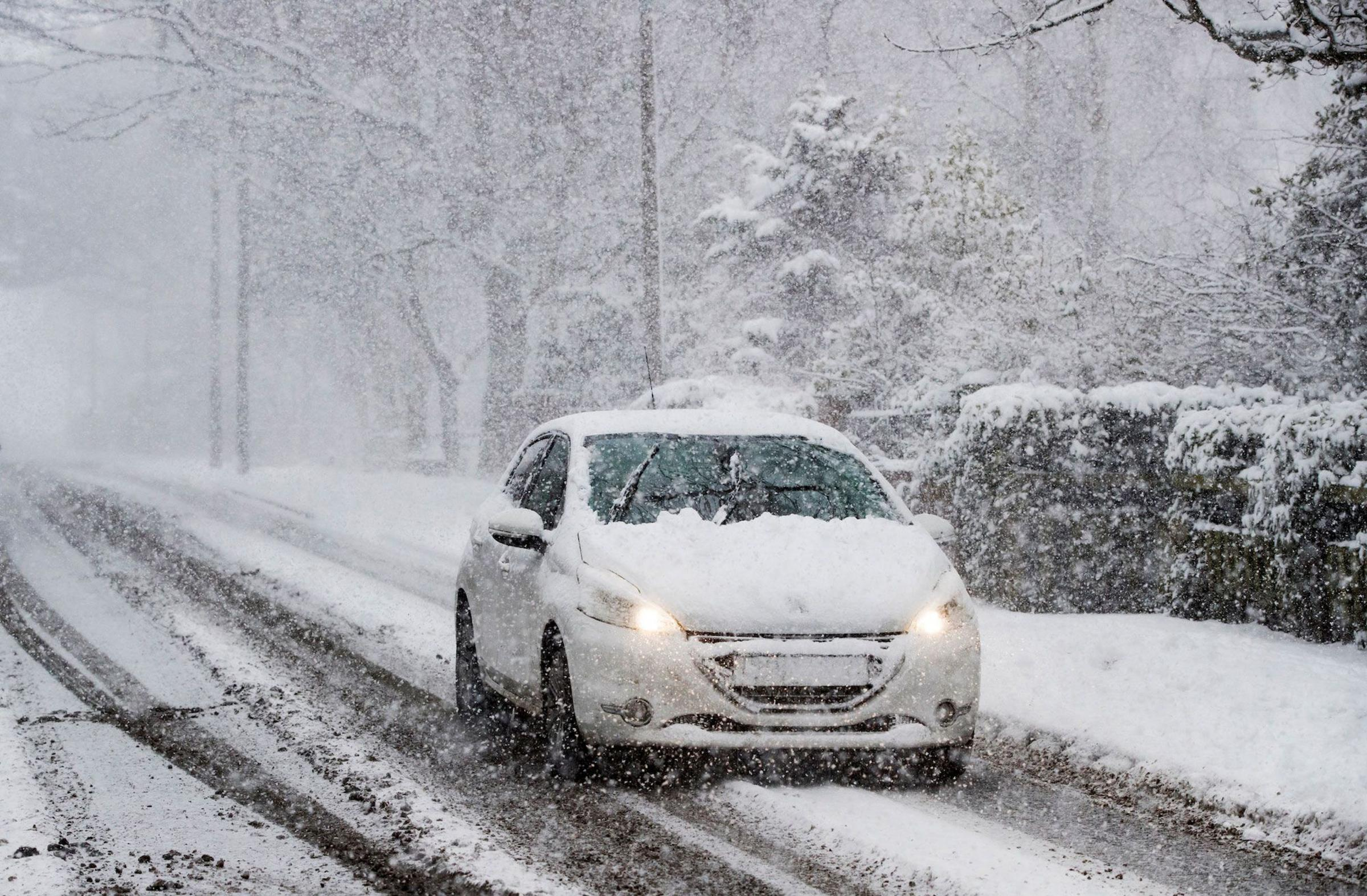 Undated file  Photo of a car driving on winter roads. See PA Feature MOTORING Column. Picture credit should read: PA. WARNING: This picture must only be used to accompany PA Feature MOTORING Column..