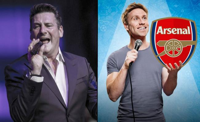 CHARD-BOUND?: Tony Hadley and Russell Howard could be coming to Chard this weekend