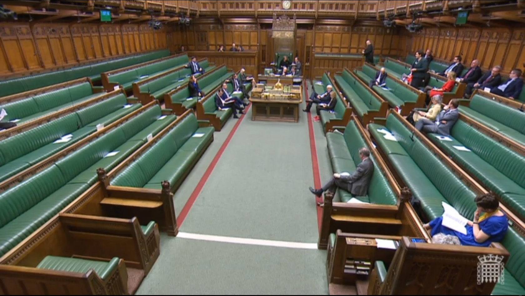 The scene in the House of Commons shortly after the announcement by the Independent Parliamentary Standards Authority that MPs' basic pay is to increase by 2.7% to £79,468 from April 1.