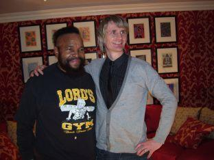Rev Howard Davenport is pictured with Mr T