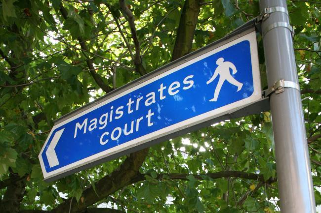 Magistrates court sign