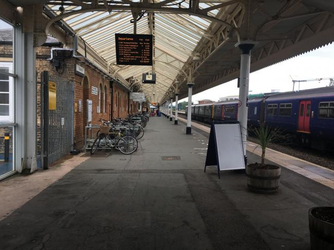 DELAYS: Taunton Railway Station