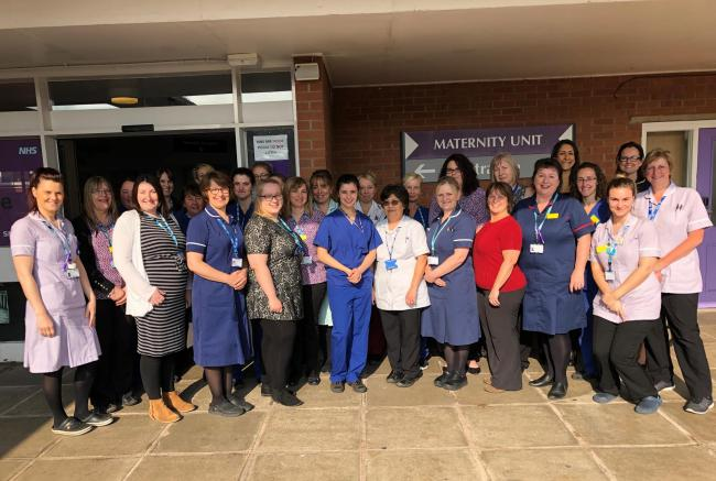 JOIN IN: Staff at Musgrove's maternity unit