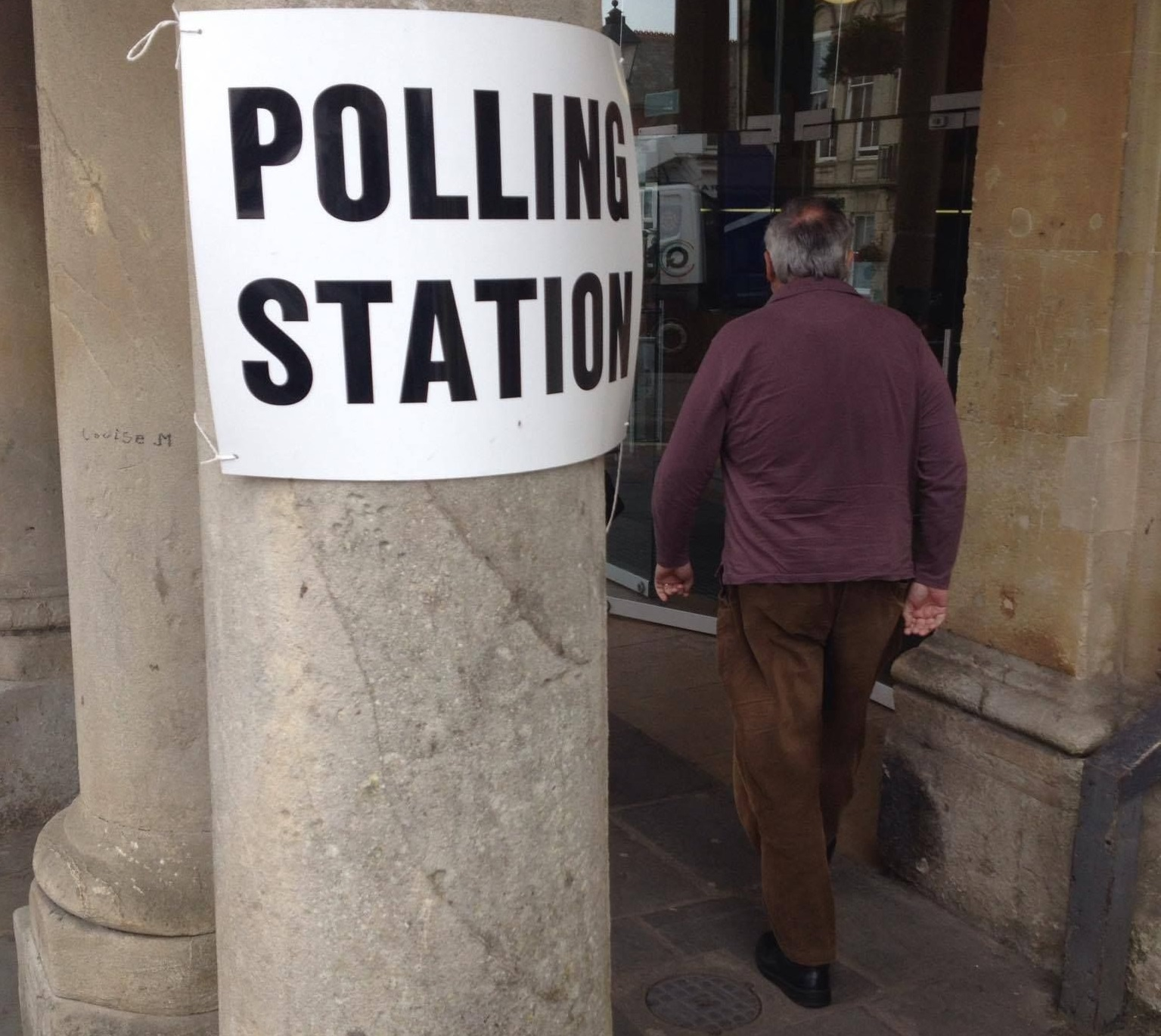 A polling station in South Somerset