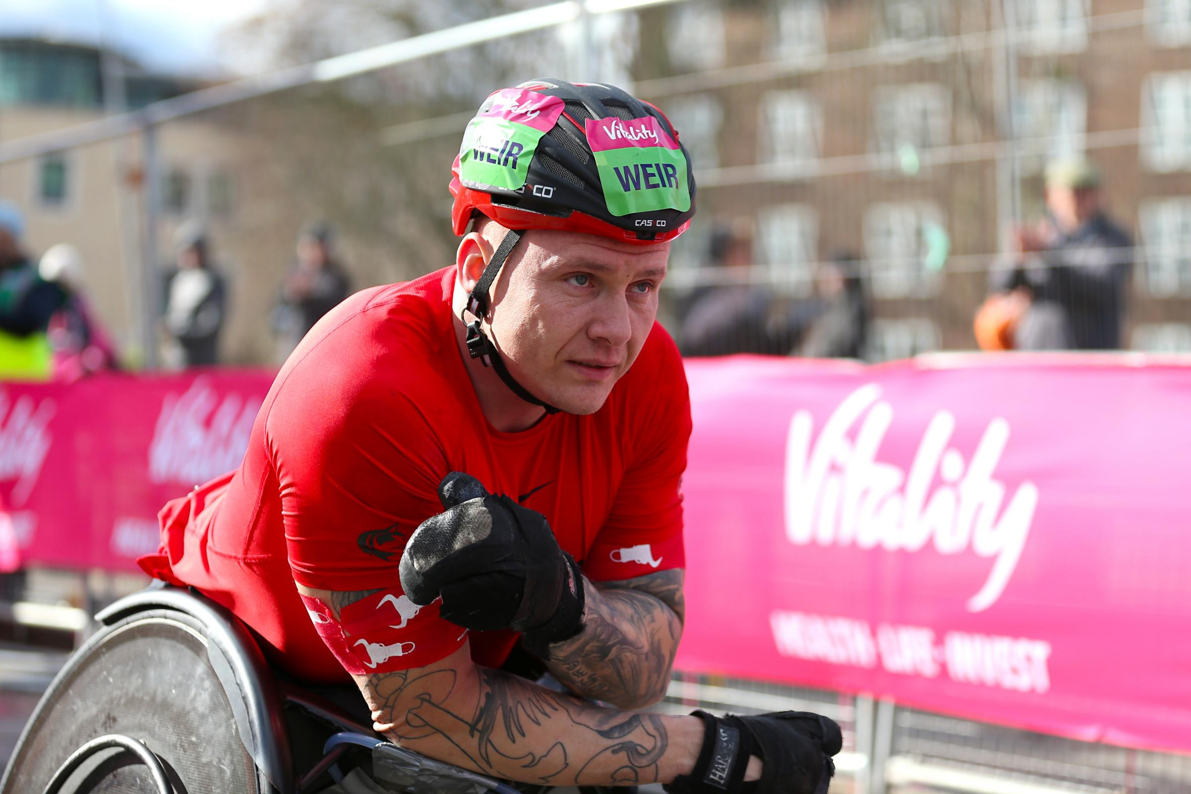 David Weir is looking to win the London Marathon again