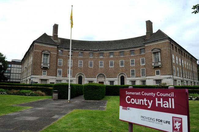 COUNTY HALL: Somerset council tax payers bills being settled by county council